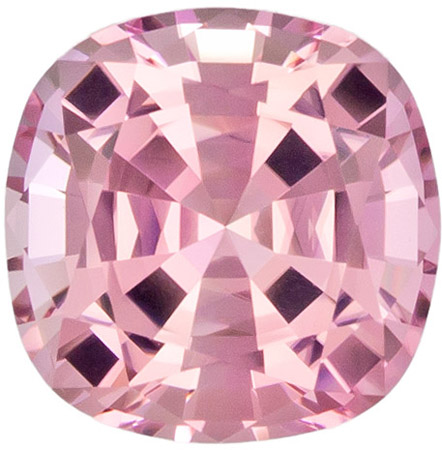 10.4 mm Pink Tourmaline Genuine Gemstone Cushion Cut, Light Baby Pink, 5.1 carats