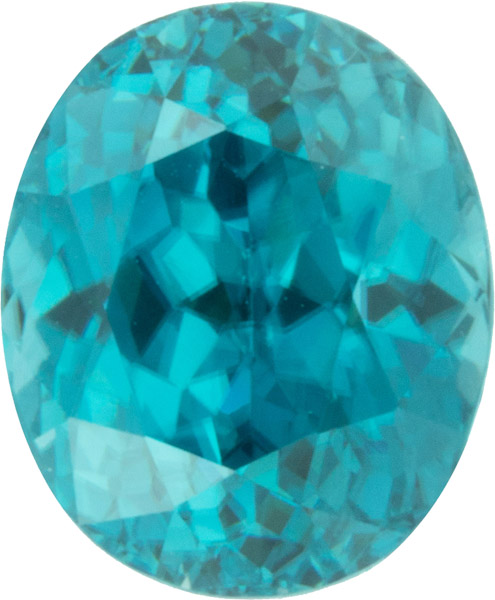 Super Deal on Loose Blue Zircon Genuine Gem in Oval Cut, Medium Blue, 6.68 carats