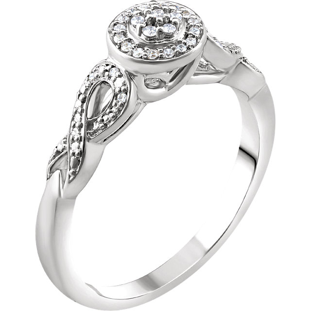 10 Karat White Gold 0.10 Carat Diamond Promise Ring