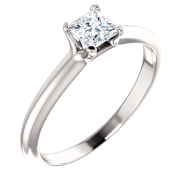 Low Price on Quality 10 KT White Gold 0.40 Carat Diamond Engagement Ring