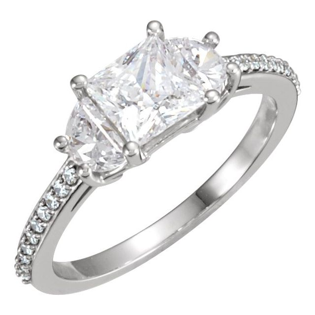 White Diamond Ring in 10 Karat White Gold 1 5/8 Carat Diamond Engagement Ring