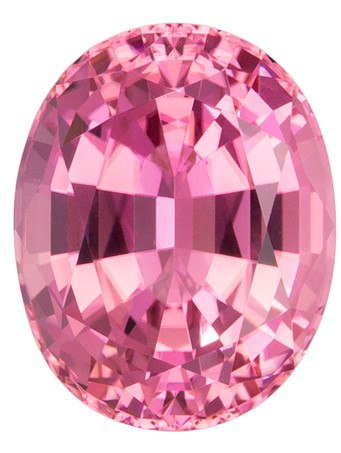 Serious Gem in 11.5 x 9.1 mm Tourmaline Loose Gemstone in Oval Cut, Pure Pink, 4.75 carats