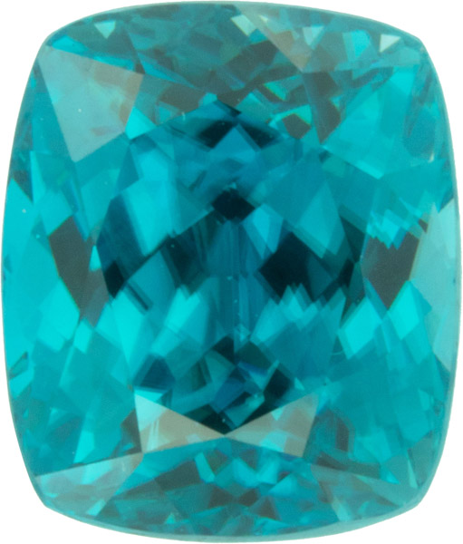 10.94 carats Intense Blue Zircon Genuine Gem in Fine German Cut, Stunning Blue Color - SOLD