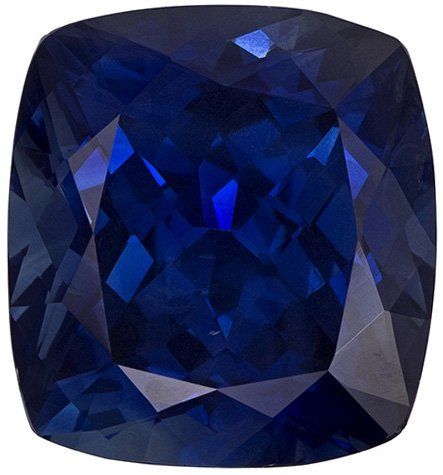 11.84 Carat Ethiopian Origin Cut Blue Sapphire Loose Gem, Teal Tinged Rich Blue, 13.6 x 12.6 mm, 11.84 carats - GIA Certified