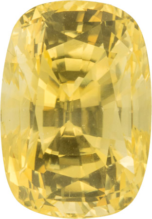 Beautiful 11.98 carat Lemon Yellow Sapphire Ceylon Gem in Antique Cushion Cut, 14.2 x 9.9 mm
