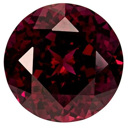 Natural Rich Rhodolite Gemstone, Round Cut, 8.54 carats, 12.2 mm , AfricaGems Certified - A Low Price