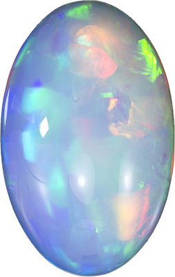 Stunning 12.32 carats Ethiopian Opal Oval Genuine Gemstone, 21.8 x 13.8 mm