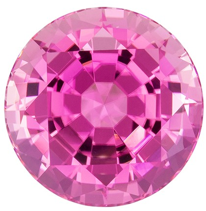 Exceptional Pink Tourmaline 8.51 carats, Round shape gemstone, 12.4  mm