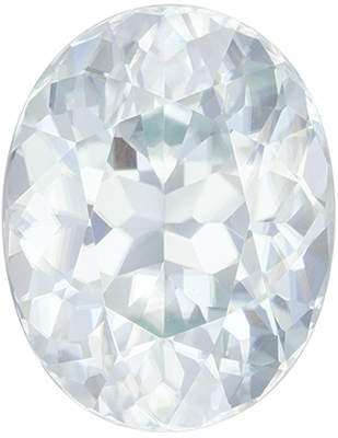Special Rare Zircon Loose Gem, 12.62 carats, Vivid Colorless White, Oval Cut, 14.6 x 11.4mm