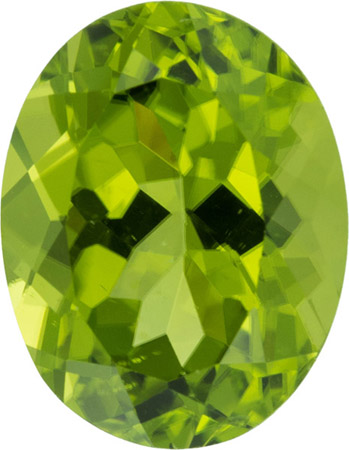 12.8 x 9.8 mm Peridot Loose Gem in Oval Cut, 5.7 carat German Cut Gemstone