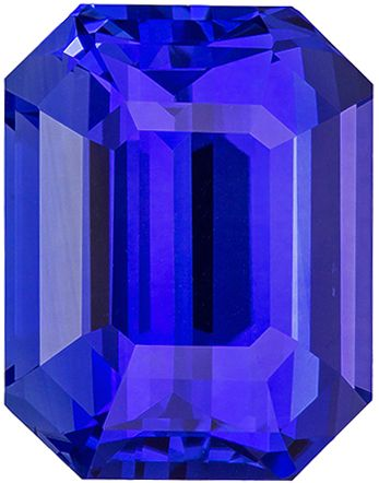 Striking Super Gem Blue Sapphire Gemstone 13.25 carats, GIA Cert on Emerald Cut, 14.37 x 11.16 x 8.3 mm