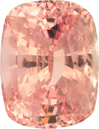 13.34 carat Padparadscha Sapphire Loose Gem in Antique Cushion Cut, 14.3 x 11.2 mm