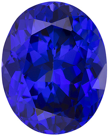 13.49 carats Tanzanite Loose Gemstone Oval Cut, Medium Blue Purple, 16.5 x 13.1 mm