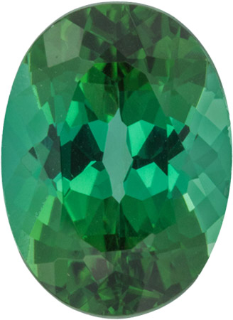 13.6 x 10.3 mm Blue Green Tourmaline Gemstone in Oval Cut, 6.81 carat - SOLD