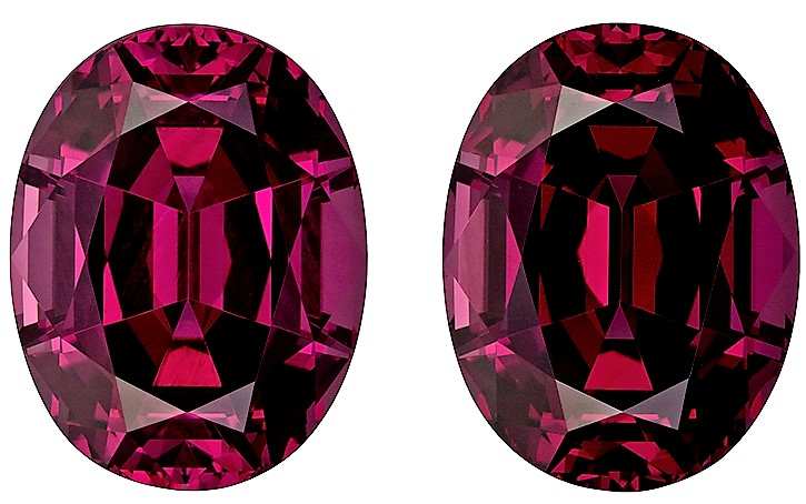 Loose Genuine Rhodolite Garnet Gemstone 14.42 carats, Oval Cut, 12.7 x 9.7  mm