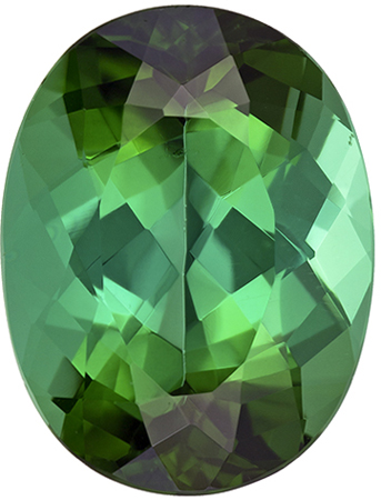 14.5 x 11.1 mm Blue Green Tourmaline Genuine Gemstone Oval Cut, Rich Blue Green, 8.46 carats