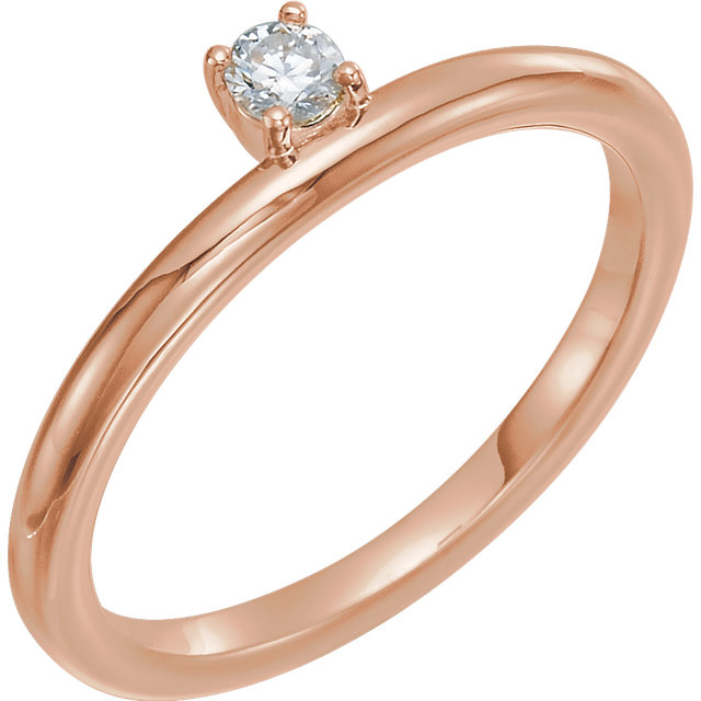 Buy 14 Karat Rose Gold 0.10 Carat Diamond Stackable Ring
