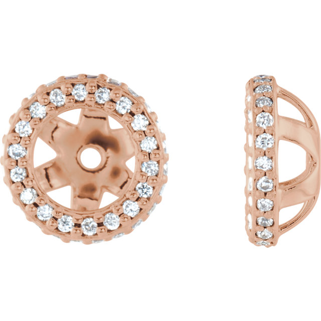 Eye Catchy 14 Karat Rose Gold 0.25 Carat Total Weight Diamond Earring Jackets