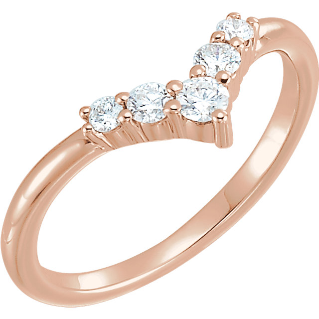 Buy 14 Karat Rose Gold 0.25 Carat Diamond Graduated