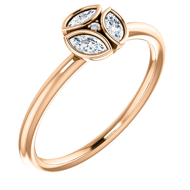 Shop Real 14 KT Rose Gold 0.25 Carat TW Diamond Ring
