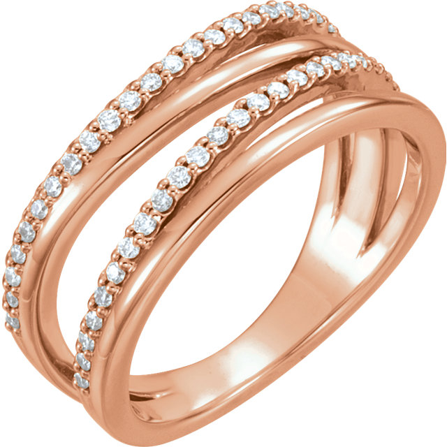 Buy Real 14 KT Rose Gold 0.25 Carat TW Diamond Ring