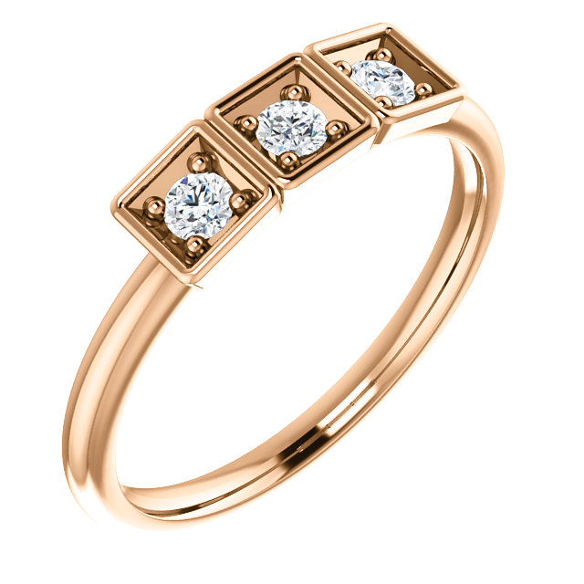 14 KT Rose Gold 0.20 Carat TW Stackable Ring