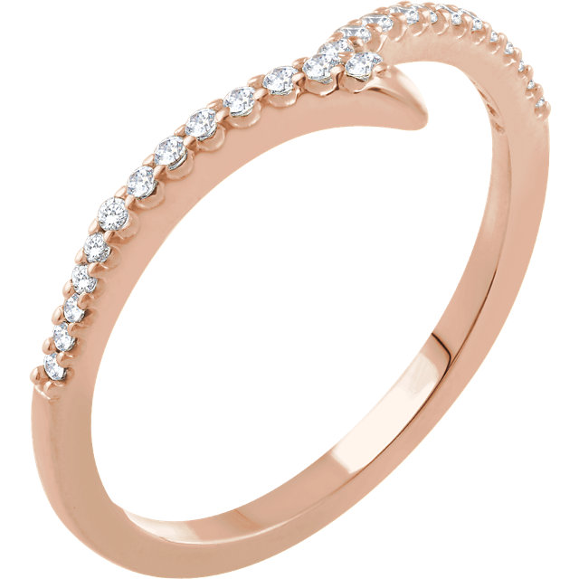 Shop Real 14 KT Rose Gold 0.17 Carat TW Diamond Ring