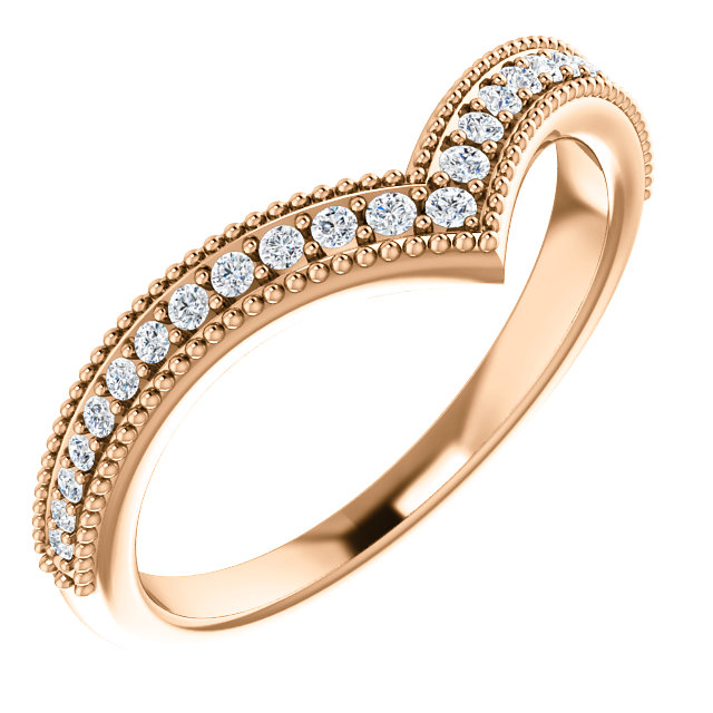 14 Karat Rose Gold 0.17 Carat Diamond Stackable