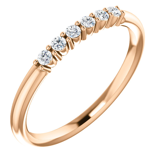 Shop 14 Karat Rose Gold 0.12 Carat Diamond Stackable Ring