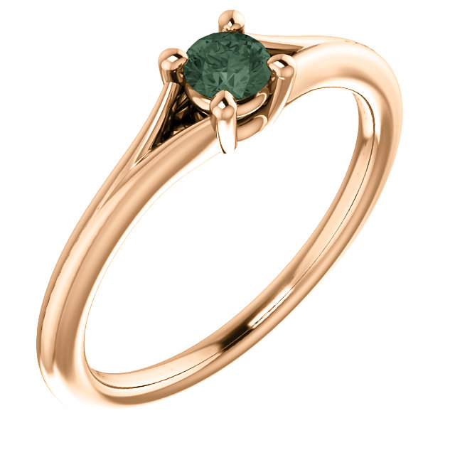 Great Buy in 14 Karat Rose Gold Alexandrite Youth Ring