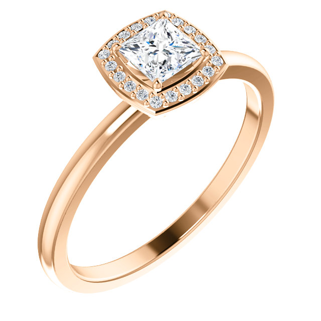 Buy 14 Karat Rose Gold Diamond & .05 Carat Diamond Ring