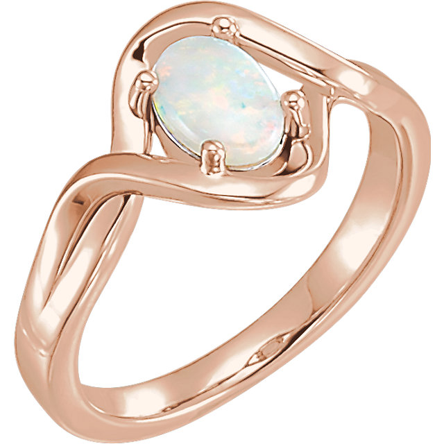 Eye Catchy 14 Karat Rose Gold Opal Freeform Ring