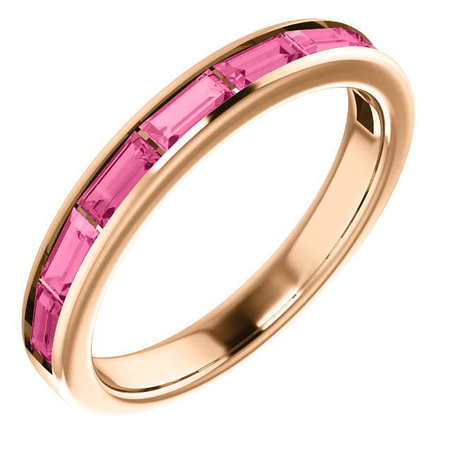 Stunning 14 Karat Rose Gold Pink Tourmaline Ring