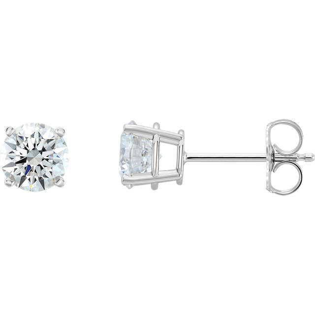 Eye Catchy 14 Karat White Gold 0.50 Carat Total Weight Lab-Grown Diamond Stud Earrings