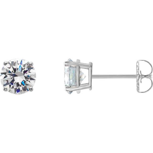 Chic 14 Karat White Gold 0.25 Carat Total Weight Lab-Grown Diamond Stud Earrings