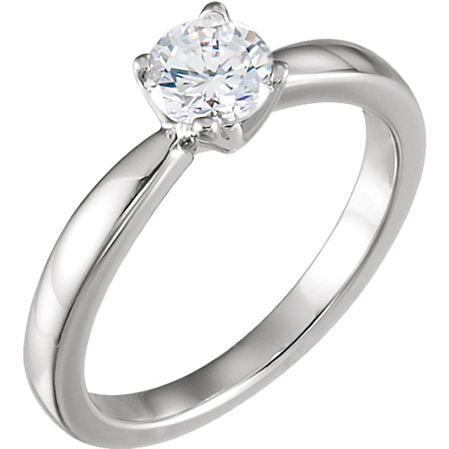 Diamond Ring in 14 Karat  Gold 0.50 Carat Round Solitaire Engagement Ring