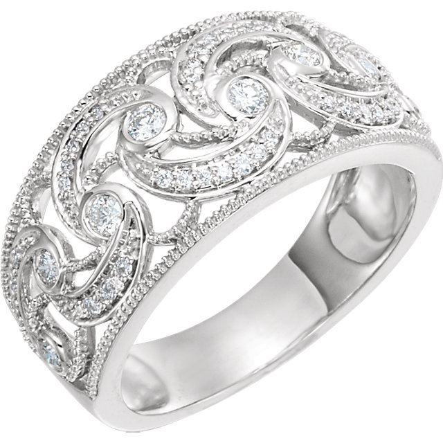 14 KT White Gold 0.33 Carat TW Diamond Ring