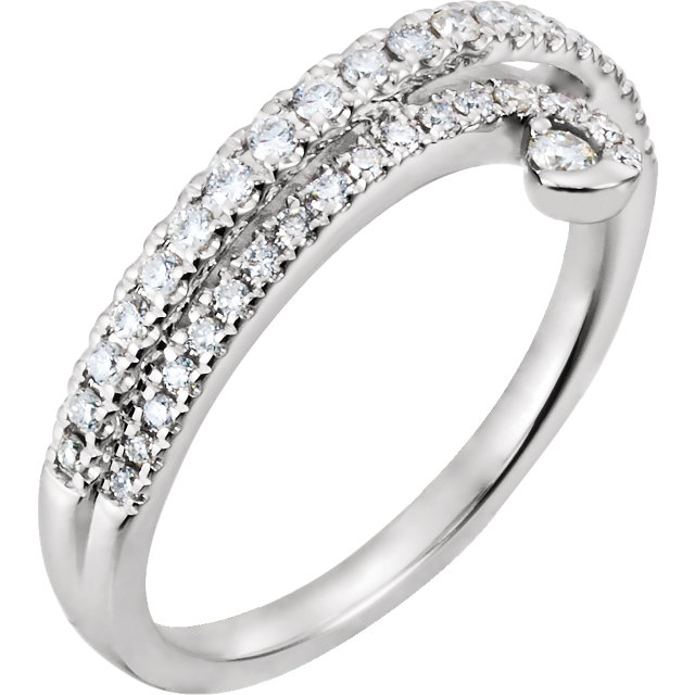 Buy Real 14 KT White Gold 0.33 Carat TW Diamond Ring
