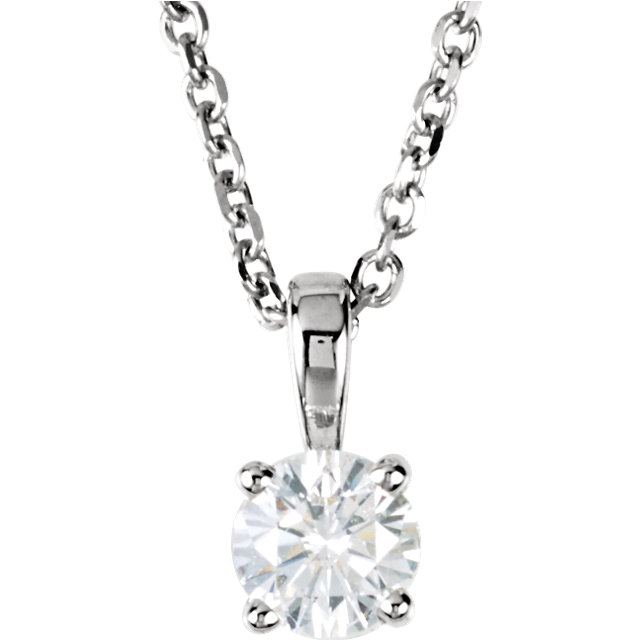 14 Karat White Gold 0.25 Carat Diamond 18
