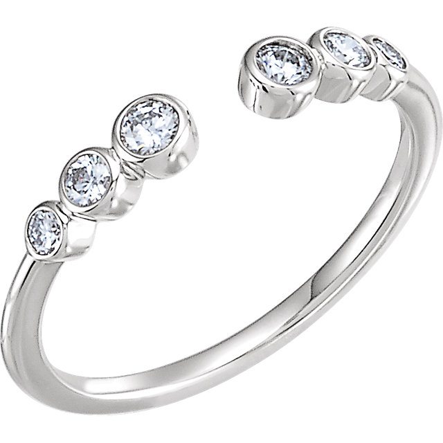 Buy Real 14 KT White Gold 0.25 Carat TW Diamond Negative Space Ring