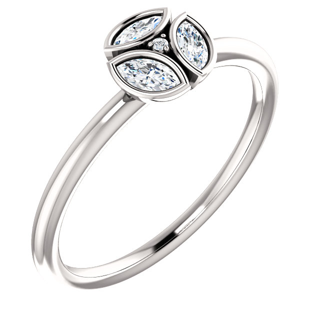 Shop 14 KT White Gold 0.25 Carat TW Diamond Ring