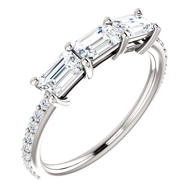 Buy 14 Karat White Gold 1 0.60 Carat Diamond Engagement Ring