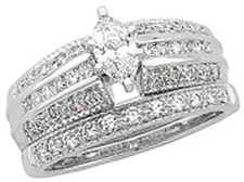 14 Karat White Gold 1/5 Carat Total Weight Diamond Engagement Ring