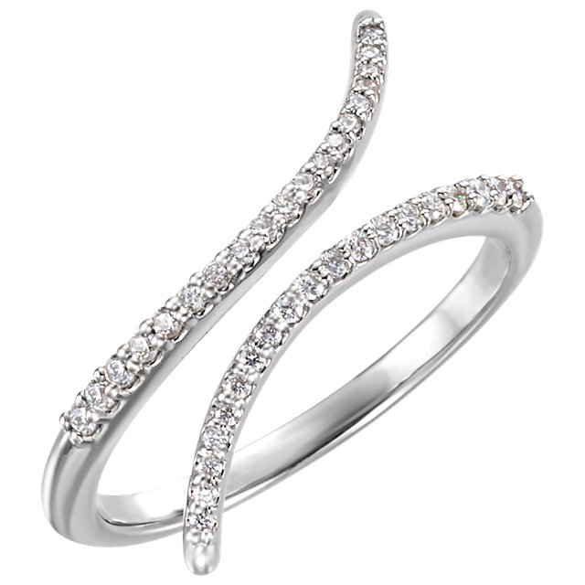 Buy Real 14 KT White Gold 0.17 Carat TW Diamond Ring