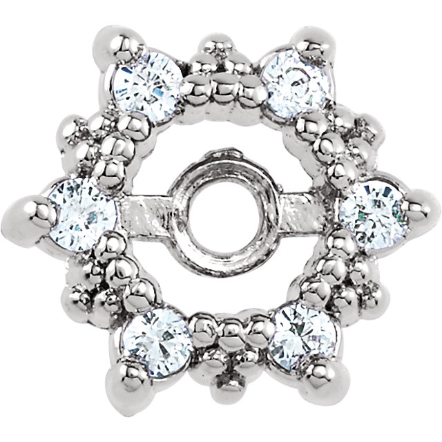 Shop Real 14 KT White Gold 0.12 Carat TW Diamond Earring Jackets
