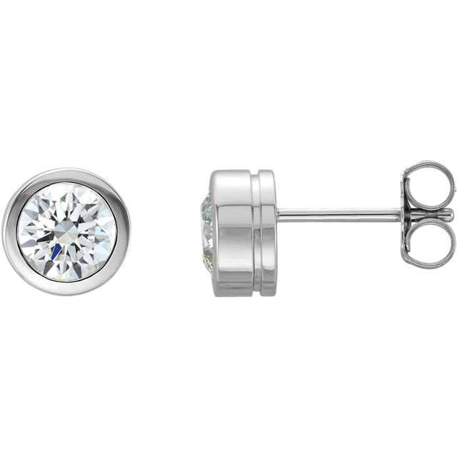 Surprise Her with  14 Karat White Gold 0.50 Carat Total Weight Diamond Earrings