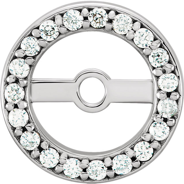 Low Price on Quality 14 KT White Gold 5.15mm ID 0.12 Carat TW Diamond Earring Jackets
