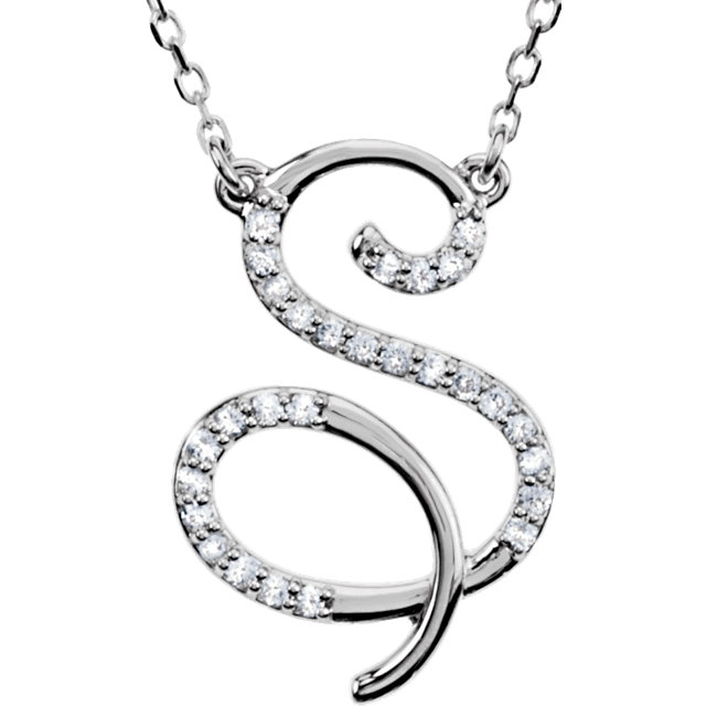 Low Price on Quality 14 KT White Gold Letter
