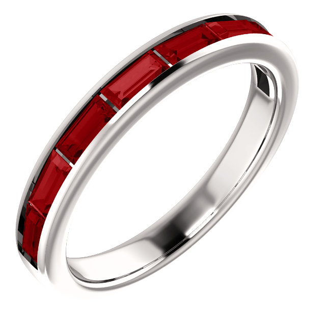 14 Karat White Gold Ruby Ring