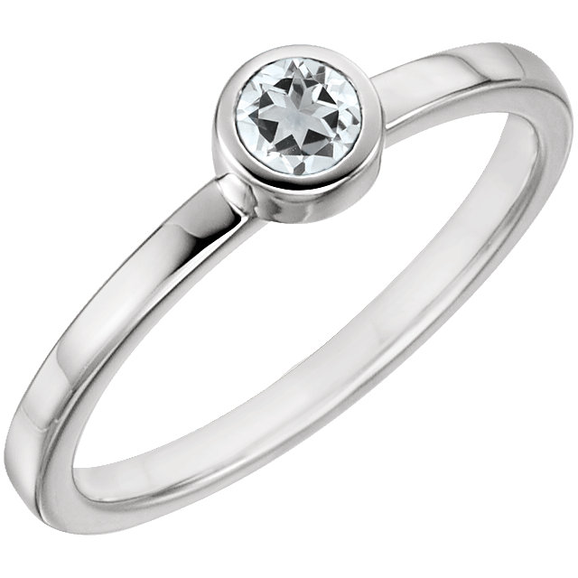 Surprise Her with  14 Karat White Gold Sapphire Ring
